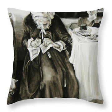 A Different Time Throw Pillow by Jean Cormier