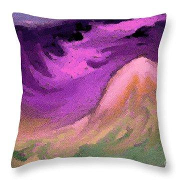 Throw Pillow featuring the digital art A Digital Storm by Steven Lebron Langston