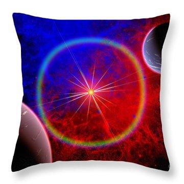 A Distant Alien Star System Throw Pillow by Mark Stevenson