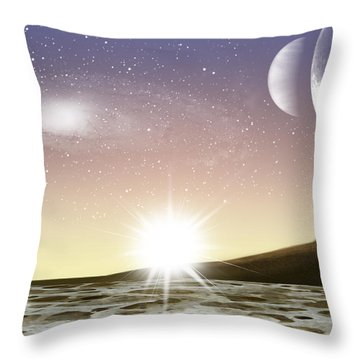 A Distant World Throw Pillow by Brian Wallace