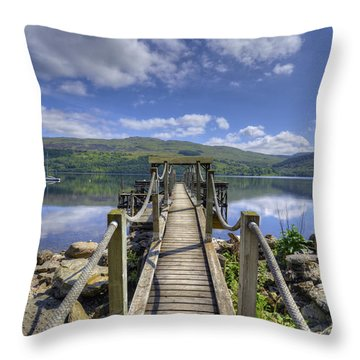 A Dock Out To Loch Tay Throw Pillow