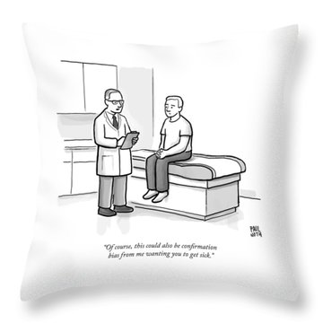 A Doctor Talks To His Patient Throw Pillow
