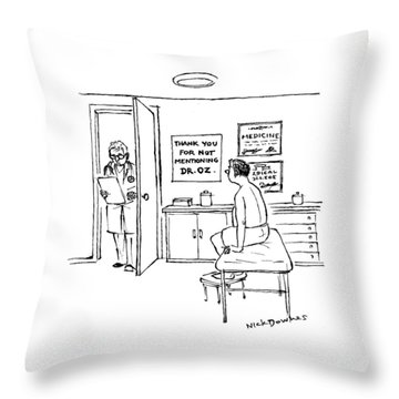 A Doctor Walks Into An Office Where A Patient Throw Pillow