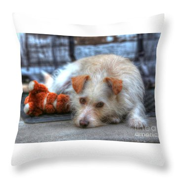 A Dog And His Best Friend Throw Pillow