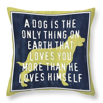A Dog... Throw Pillow by Debbie DeWitt