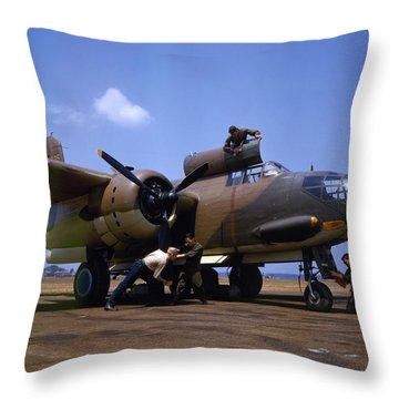 A Douglas A-20c-bo Havoc 1942 Throw Pillow by Celestial Images