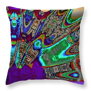 A Dragon Fan On Venus Throw Pillow by Alec Drake