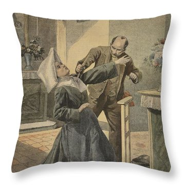 A Drama In An Asylum Assassination Throw Pillow by French School