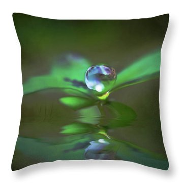 A Dream Of Green Throw Pillow