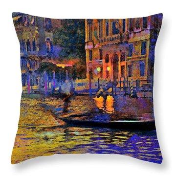 A Dream Of Venice Throw Pillow by Steven Boone