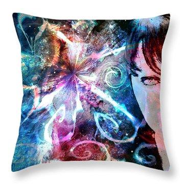 A Dreamer's Dream Throw Pillow by Linda Sannuti