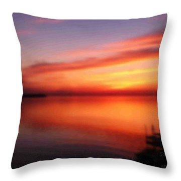 A Dreamy Sunset On The Midwestern Riviera Throw Pillow