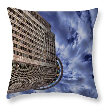 Throw Pillow featuring the photograph A Drifting Skyscraper by Ron Shoshani