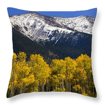 A Dusting Of Snow On The Peaks Throw Pillow