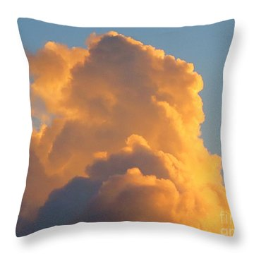 Another Face In The Cloud? Throw Pillow