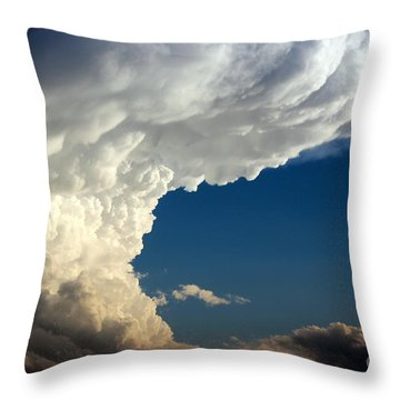 Throw Pillow featuring the photograph A Face In The Clouds by Barbara Chichester