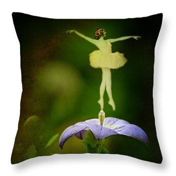 A Fairy In The Garden Throw Pillow