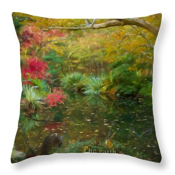 A Fall Afternoon With Message Throw Pillow
