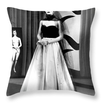 A Fashionable Mannequin Throw Pillow
