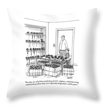 A Father Addresses His Son In The Doorway Throw Pillow