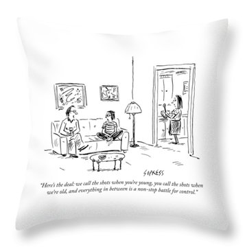 A Father Says To His Son Throw Pillow