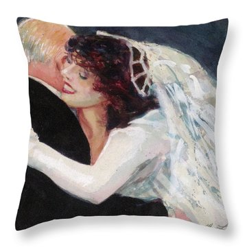 A Father's Dance Throw Pillow