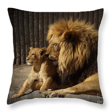 Throw Pillow featuring the photograph A Father's Love by Inge Riis McDonald