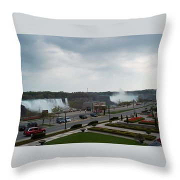 Throw Pillow featuring the photograph A Favorite Walkway by Barbara McDevitt