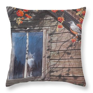A  Feast For The Eyes Throw Pillow by Mike Stinnett