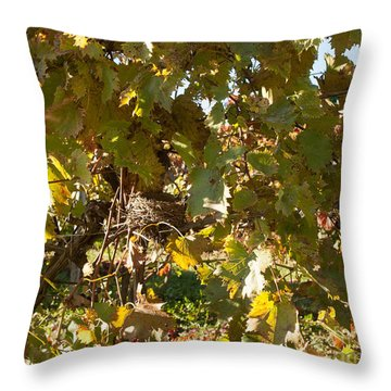 Throw Pillow featuring the photograph A Few Grapes Left For The Birds by Carol Lynn Coronios