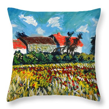 A Field In France Throw Pillow