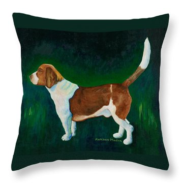 Throw Pillow featuring the painting A Field Of Green by KLM Kathel