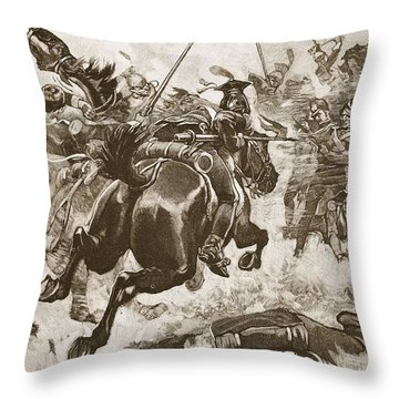 A Fierce Hand-to-hand Fight Ensued Throw Pillow