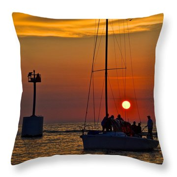 A Fine Days End Throw Pillow by Frozen in Time Fine Art Photography