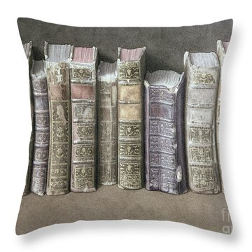 A Fine Library Throw Pillow by Jonathan Wolstenholme