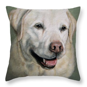 A Fine Old Lady Yellow Labrador Portrait Throw Pillow