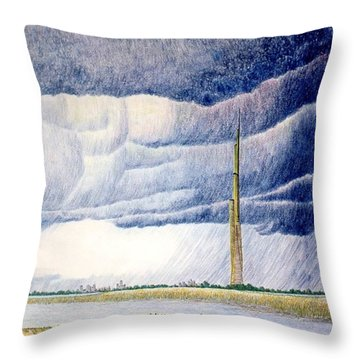 A Finger To The Sky Throw Pillow by A  Robert Malcom