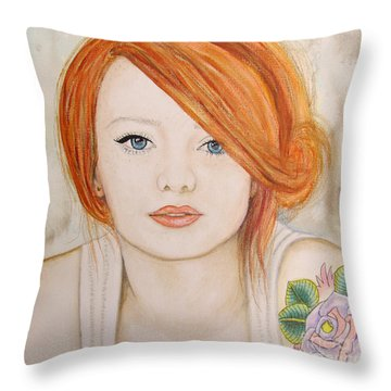 A Fire In The Soul Throw Pillow by Malinda  Prudhomme