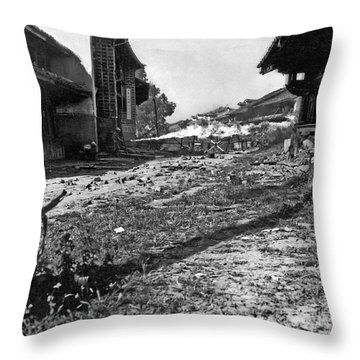 A Flame Thrower Attacks Throw Pillow