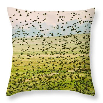 A Flock Of Freedom Throw Pillow