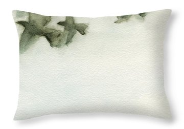 A Flock Of Pigeons 2 Watercolor Painting Of Birds Throw Pillow by Beverly Brown
