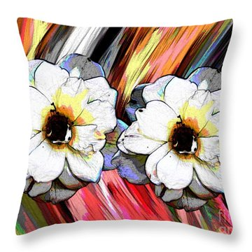 A Flower Thing Throw Pillow