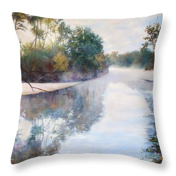 A Foggy Day Throw Pillow by Nancy Stutes