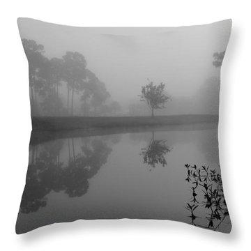 A Foggy Morning Throw Pillow
