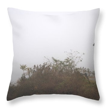 A Foggy Morning Throw Pillow