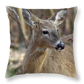 A Forest Beauty  Throw Pillow