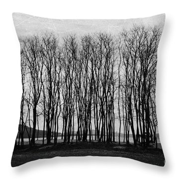A Forest Of Trees Throw Pillow by Sylvia Cook