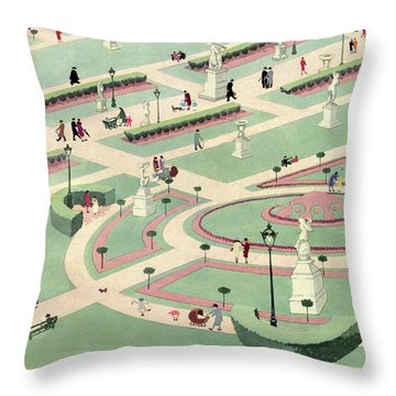 A Formally Designed Park Throw Pillow