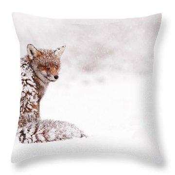 A Red Fox Fantasy Throw Pillow