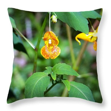 Throw Pillow featuring the photograph A Fragile Flower by Chalet Roome-Rigdon